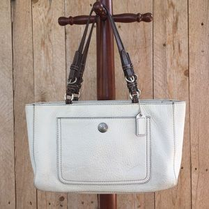 "Coach Chelsea ""off white"" leather Shoulder bag"
